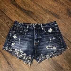 American Eagle Super Stretch Cutoff Denim Shorts